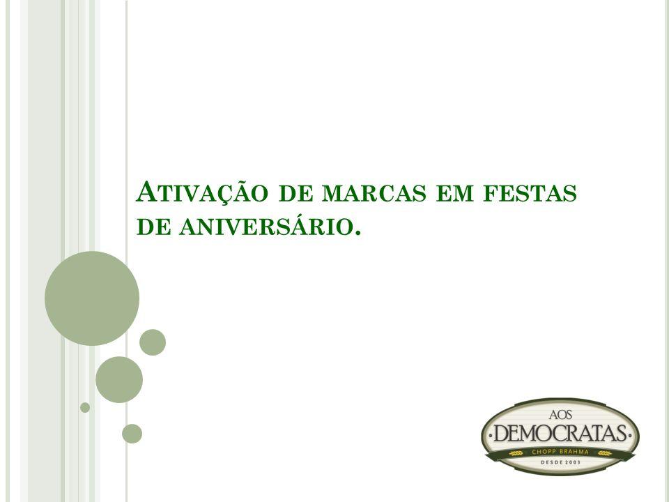 A TIVAÇÃO DE MARCAS EM FESTAS DE ANIVERSÁRIO.