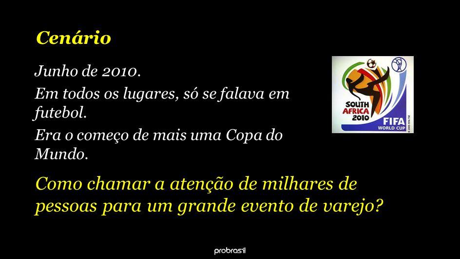 Cenário Junho de 2010.Em todos os lugares, só se falava em futebol.