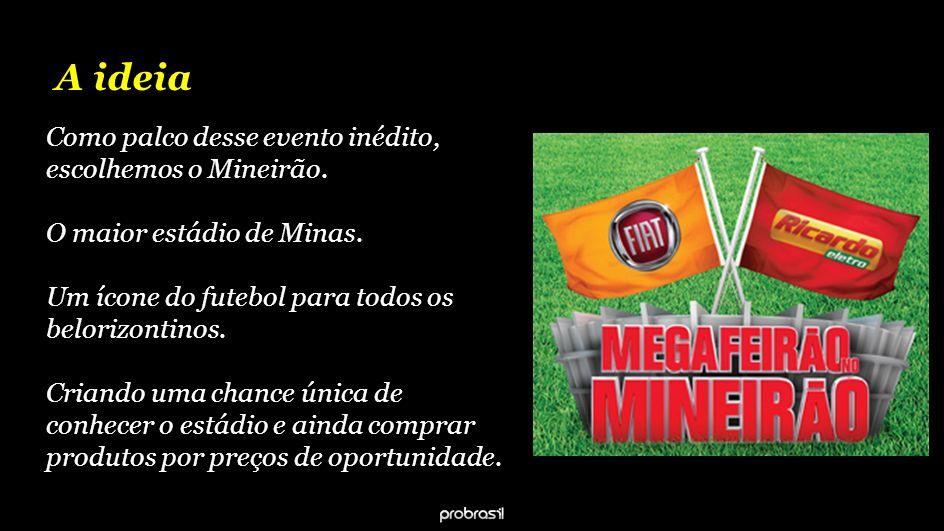 A ideia Como palco desse evento inédito, escolhemos o Mineirão.