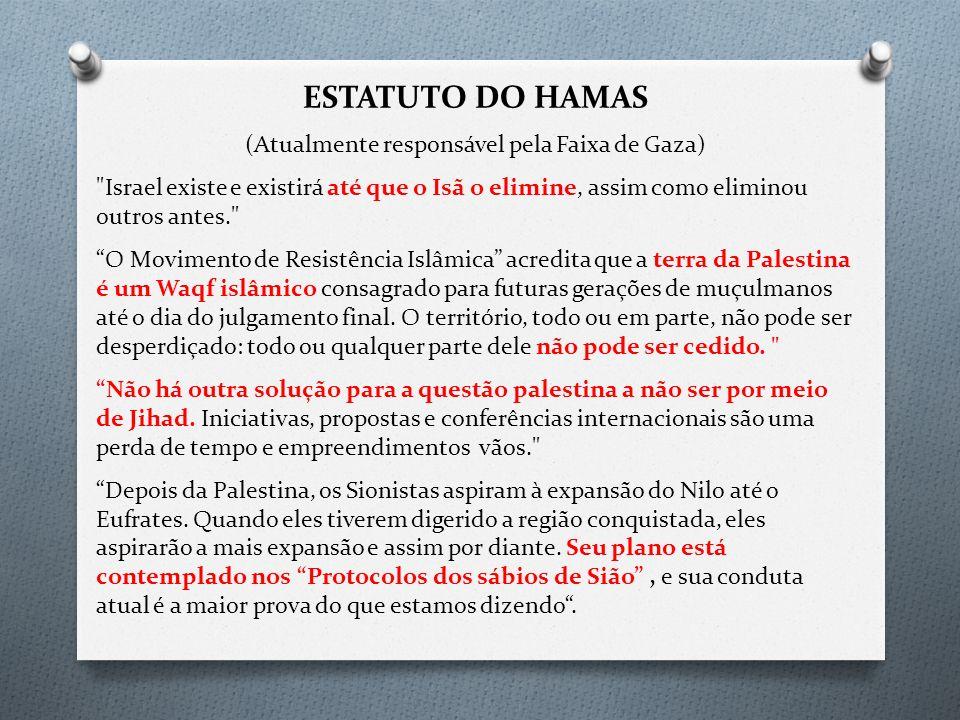 ESTATUTO DO HAMAS (Atualmente responsável pela Faixa de Gaza)