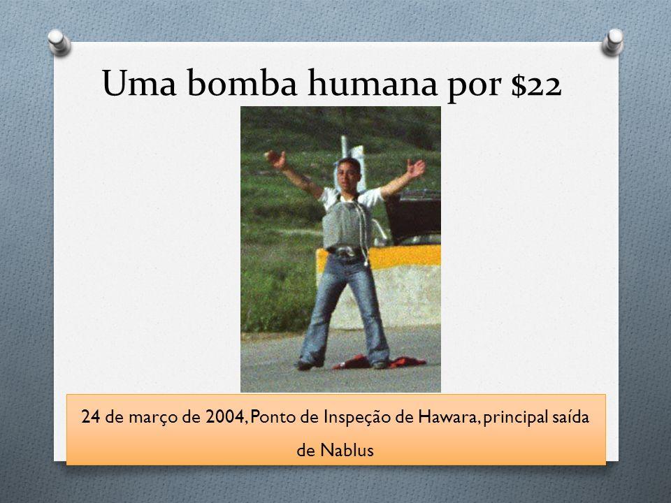 Uma bomba humana por $22 24 de março de 2004, Ponto de Inspeção de Hawara, principal saída de Nablus