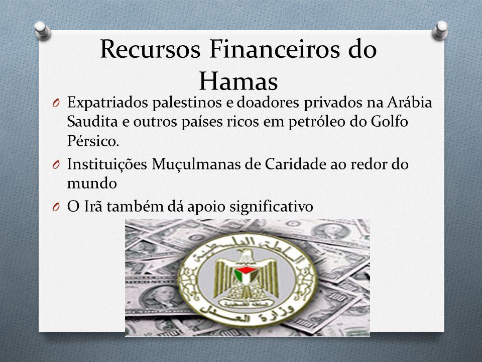 Recursos Financeiros do Hamas O Expatriados palestinos e doadores privados na Arábia Saudita e outros países ricos em petróleo do Golfo Pérsico. O Ins