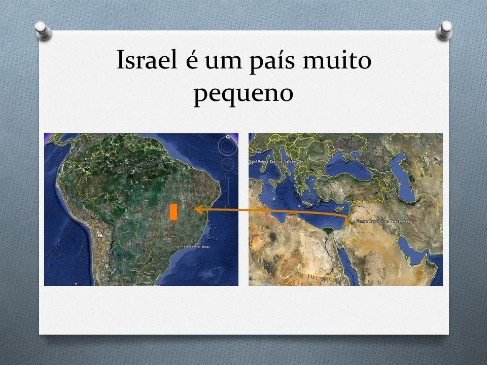 Israel é um país muito pequeno