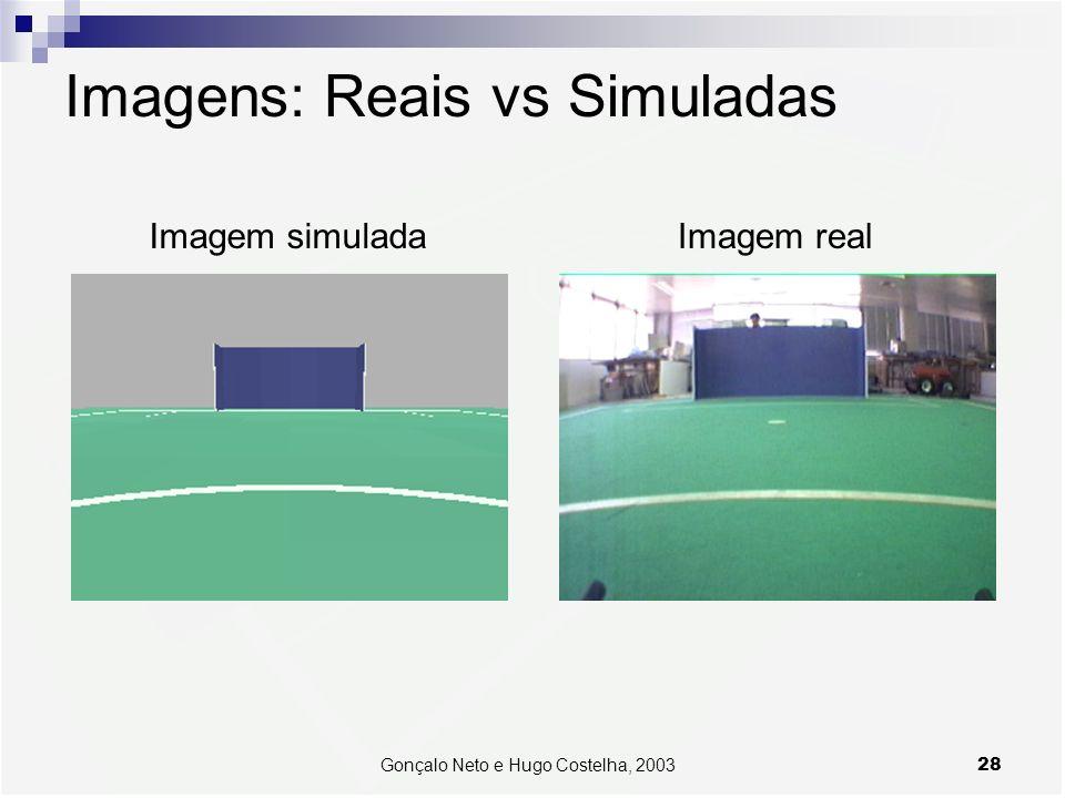 28Gonçalo Neto e Hugo Costelha, 2003 Imagens: Reais vs Simuladas Imagem simuladaImagem real