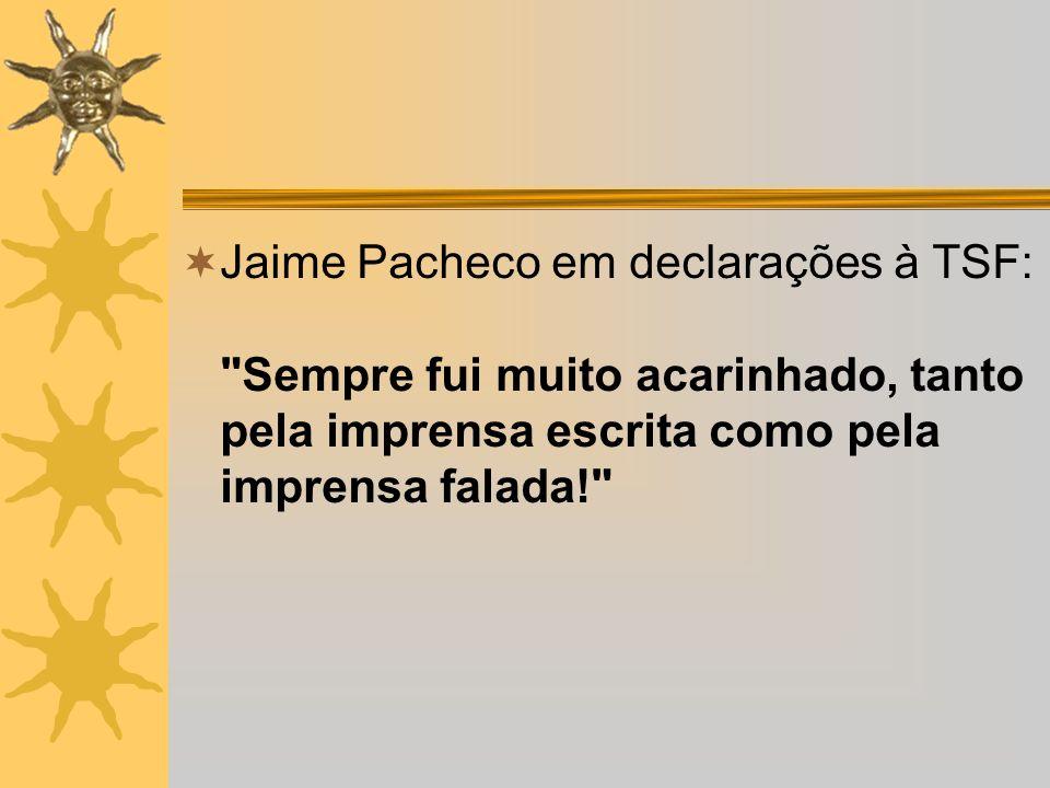 Jaime Pacheco em declarações à TSF: