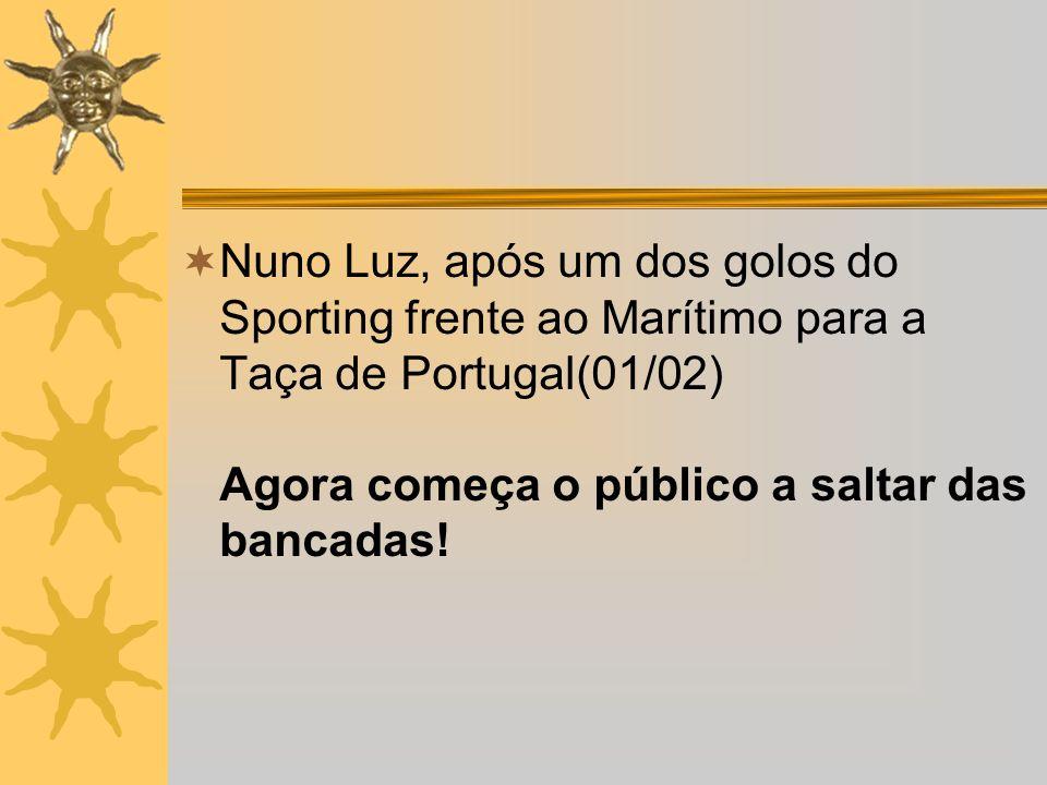 No domingo desportivo: ... e Demétrios a fazer o golo vitorioso que deu o empate ao Beira-Mar