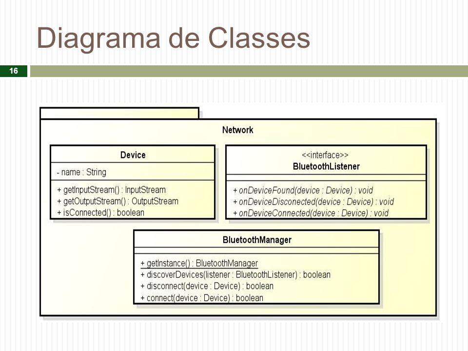 Diagrama de Classes 16