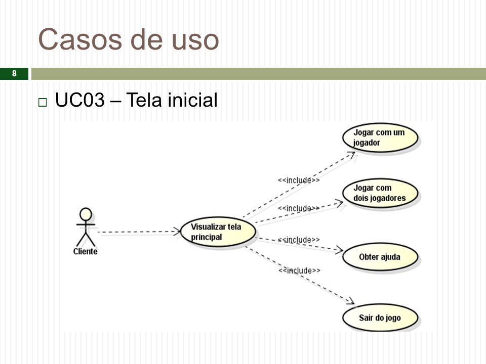 Casos de uso UC03 – Tela inicial 8