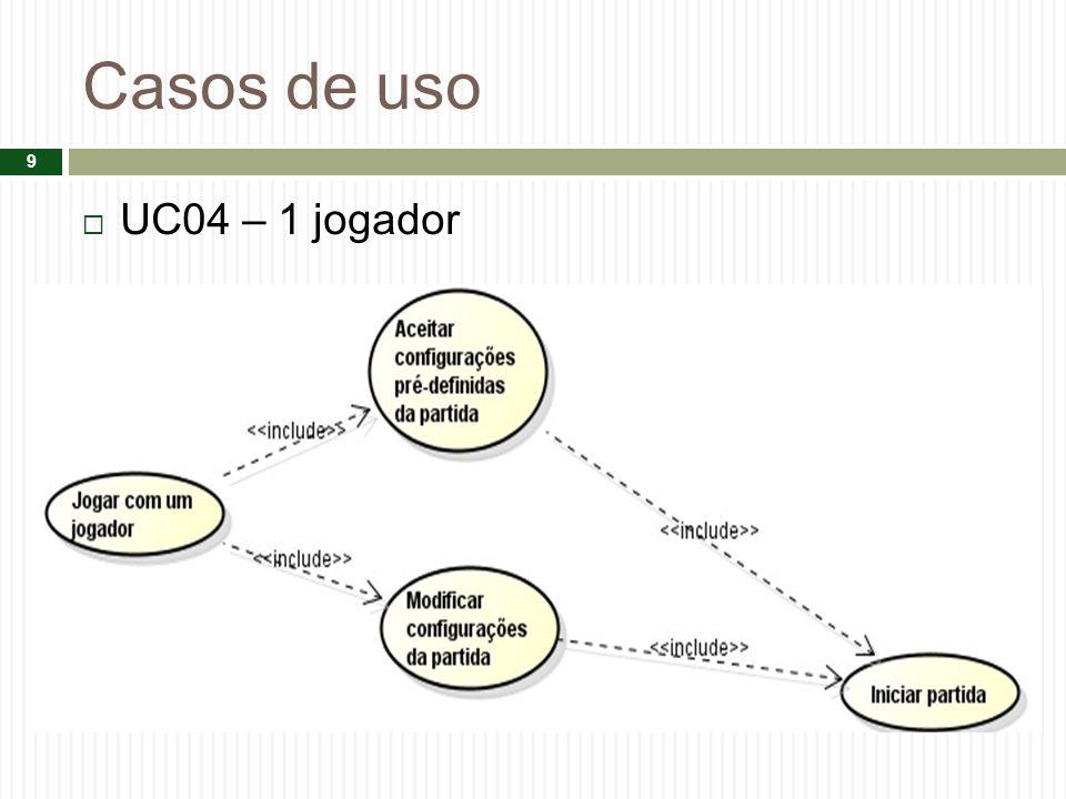 Casos de uso UC04 – 1 jogador 9