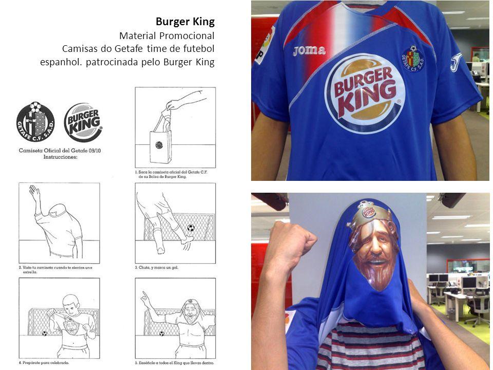 Burger King Material Promocional Camisas do Getafe time de futebol espanhol.