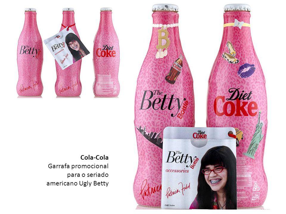 Cola-Cola Garrafa promocional para o seriado americano Ugly Betty