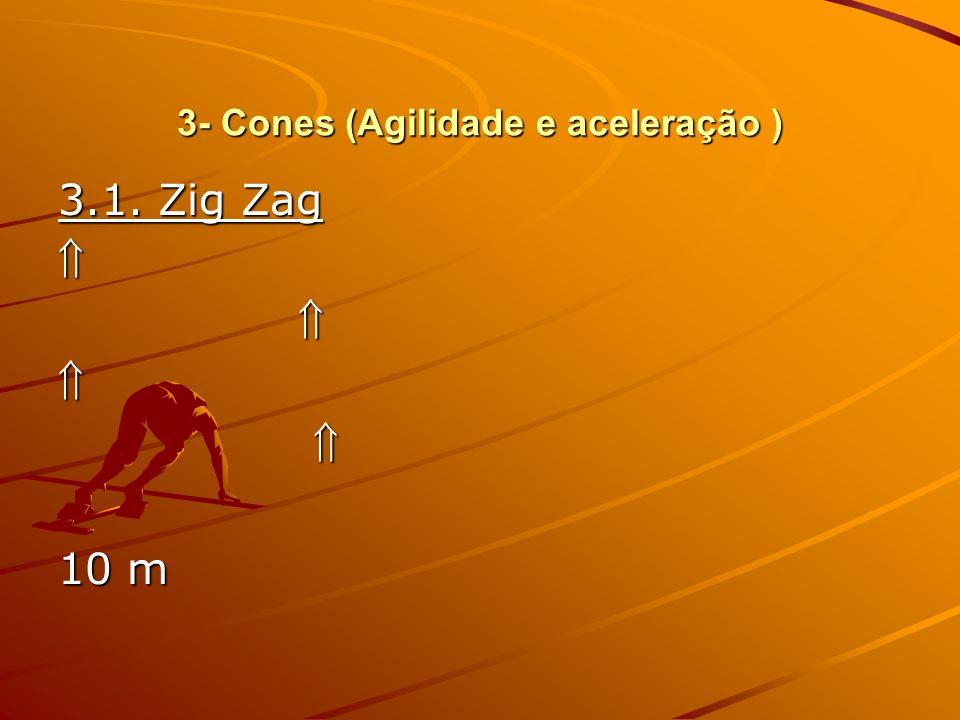 3- Cones (Agilidade e aceleração ) 3.2. Ida e Volta 3.2. Ida e Volta 10 m 10 m
