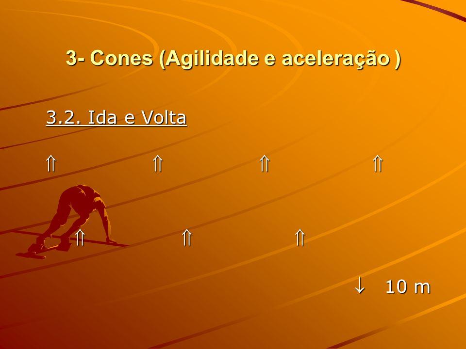 3- Cones (Agilidade e aceleração ) 3.3. Suicídio ( Aceleração )