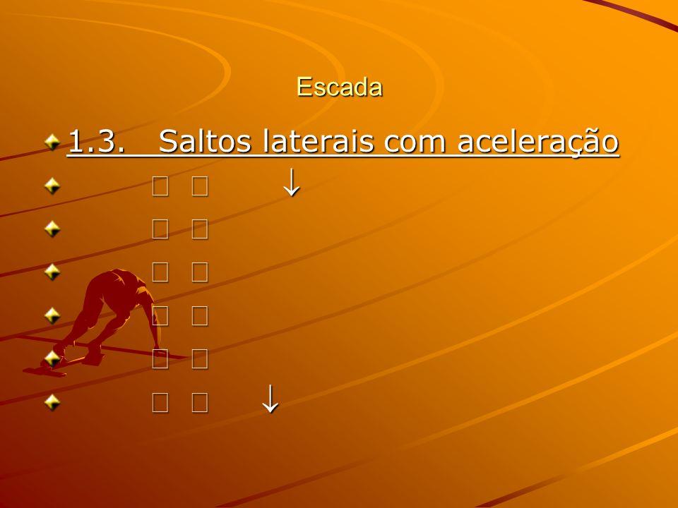 Escada 1.4. Coordenação (Indo lateral), saltos e aceleração