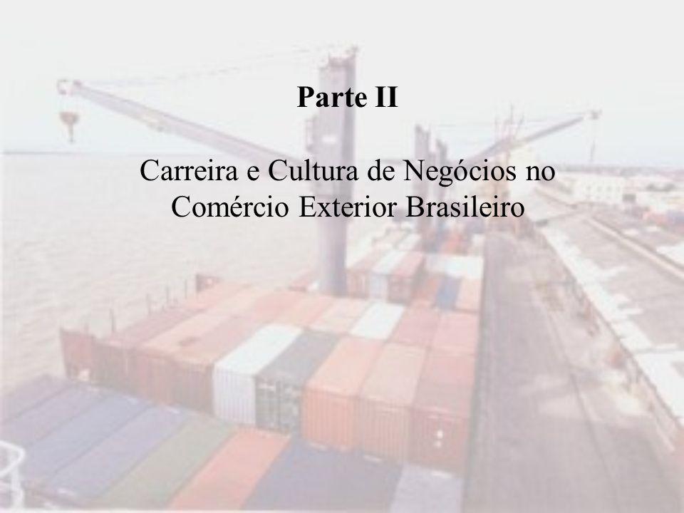 Parte II Carreira e Cultura de Negócios no Comércio Exterior Brasileiro