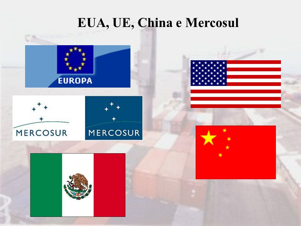 EUA, UE, China e Mercosul