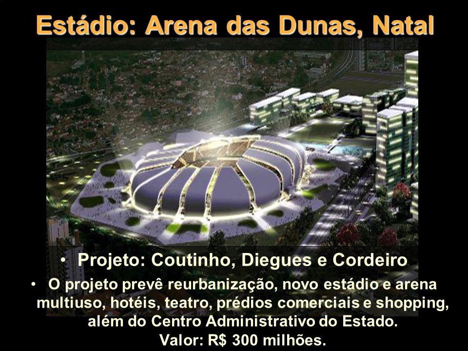 Estádio: Governador Magalhães Pinto (Mineirão), BH Projeto: Gerkan Marg & Partner (GMP) O estádio será transformado em um complexo cultural, esportivo