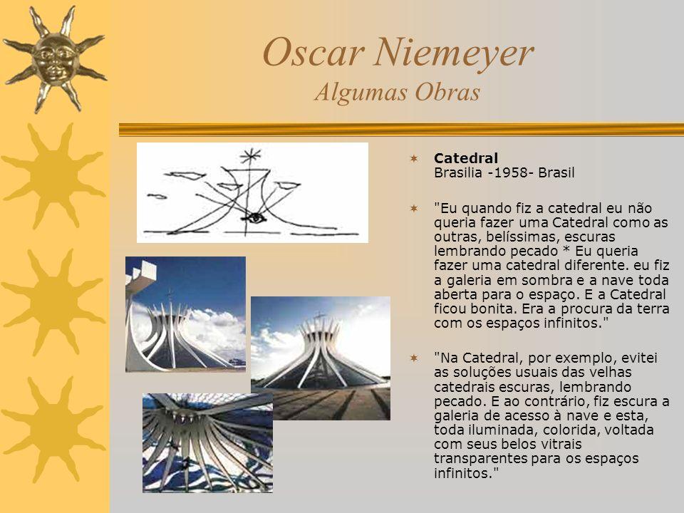 Oscar Niemeyer Algumas Obras Catedral Brasilia -1958- Brasil