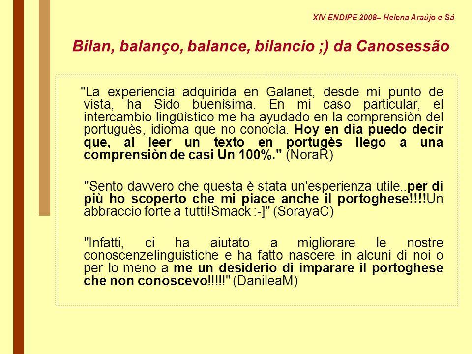 Bilan, balanço, balance, bilancio ;) da Canosessão