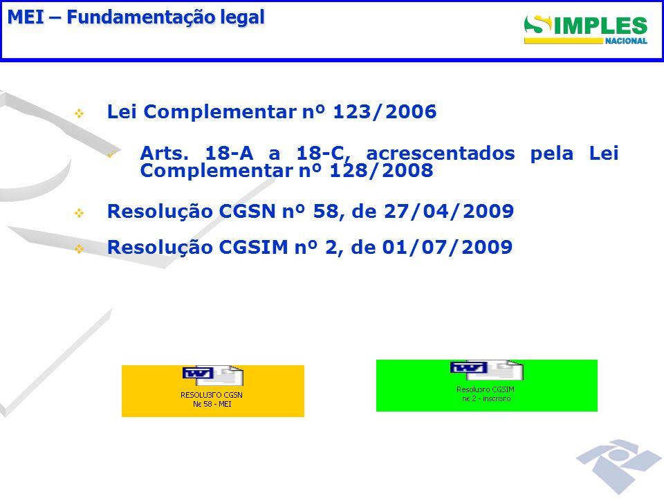 FLUXO DE INSCRIÇÃO DO MEI Sistemas envolvidos: Sistema CADSINC/Integrador (Sistema Coletor Nacional e Integrador Nacional) Sistema MDIC/Integrador (Coletor Nome Empresarial e Integrador Juntas Comerciais) Sistema Simples Nacional/Integrador (Sistema de pagamento e Integrador Estados/Municípios) Sistema INSS (Cadastro INSS - NIT)
