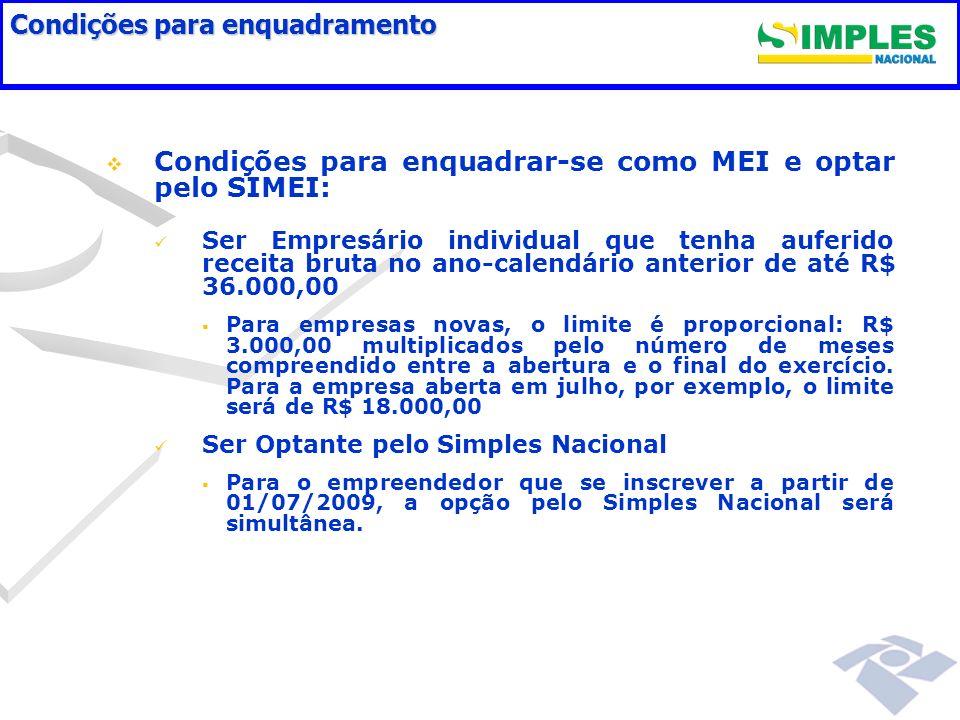 FLUXO DE INSCRIÇÃO DO MEI PORTAL DO EMPREENDEDOR: Orientações (Sebrae/CNM/CGSIM/CGSN) Pesquisa Nome Empresarial (DNRC/MDIC) Inscrição (Cadastro - RFB) Pagamento (Simples Nacional)