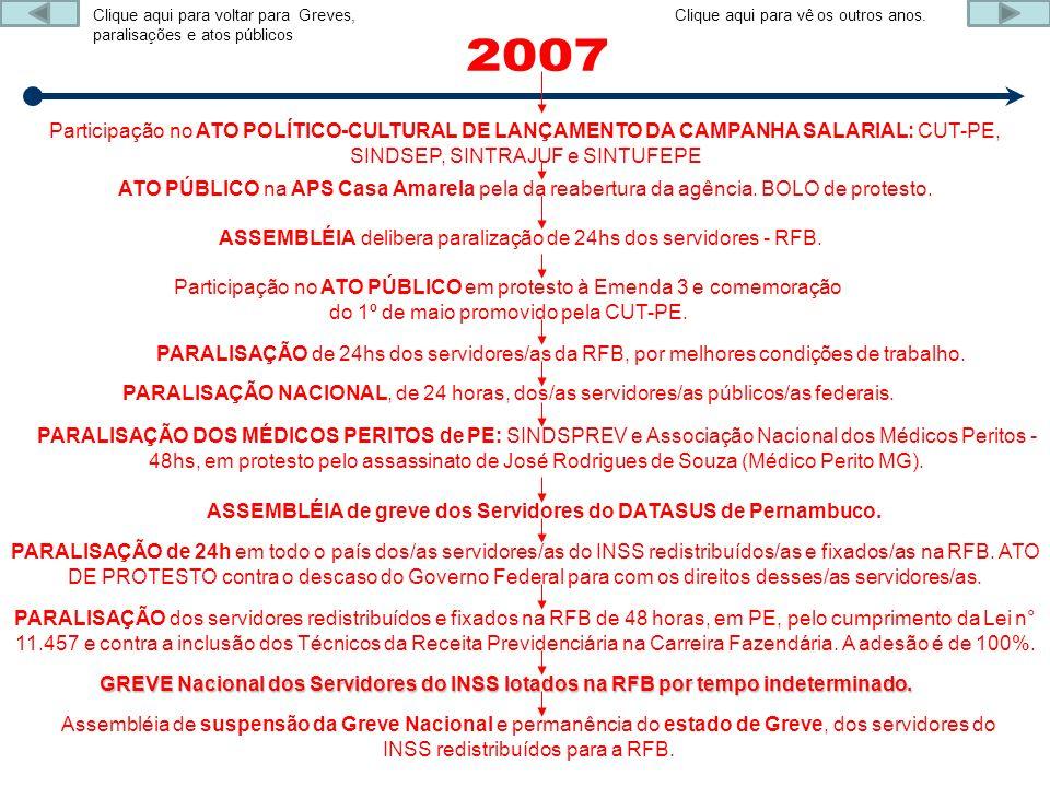 Participação no ATO POLÍTICO-CULTURAL DE LANÇAMENTO DA CAMPANHA SALARIAL: CUT-PE, SINDSEP, SINTRAJUF e SINTUFEPE ATO PÚBLICO na APS Casa Amarela pela