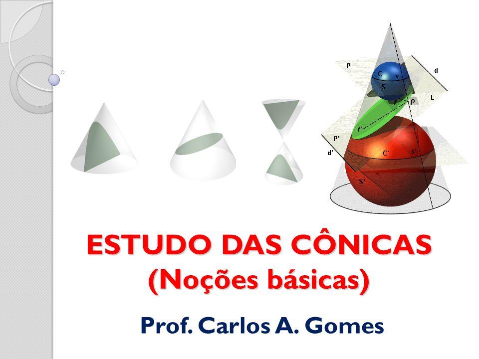 ESTUDO DAS CÔNICAS (Noções básicas) Prof. Carlos A. Gomes