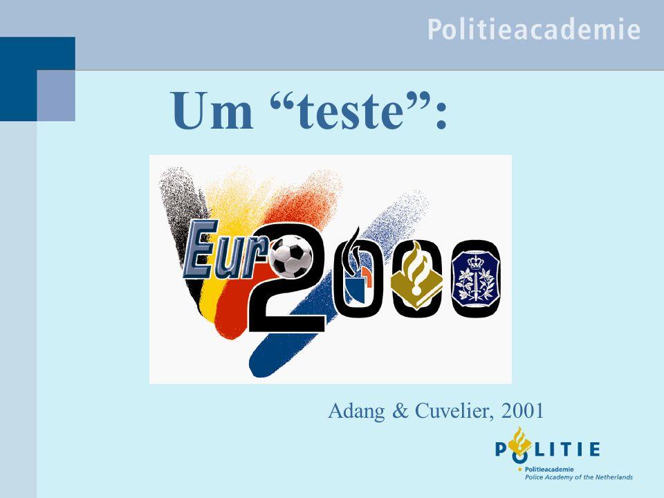 Um teste: Adang & Cuvelier, 2001