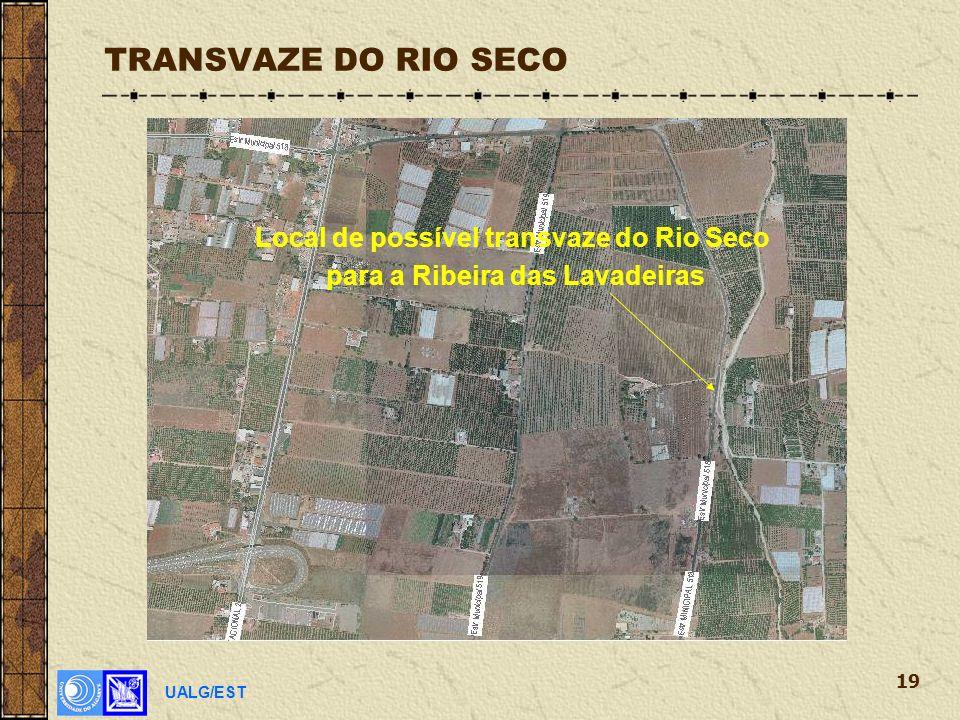 UALG/EST 19 TRANSVAZE DO RIO SECO Local de possível transvaze do Rio Seco para a Ribeira das Lavadeiras