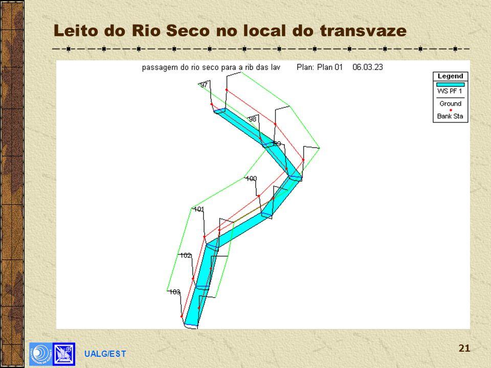 UALG/EST 21 Leito do Rio Seco no local do transvaze