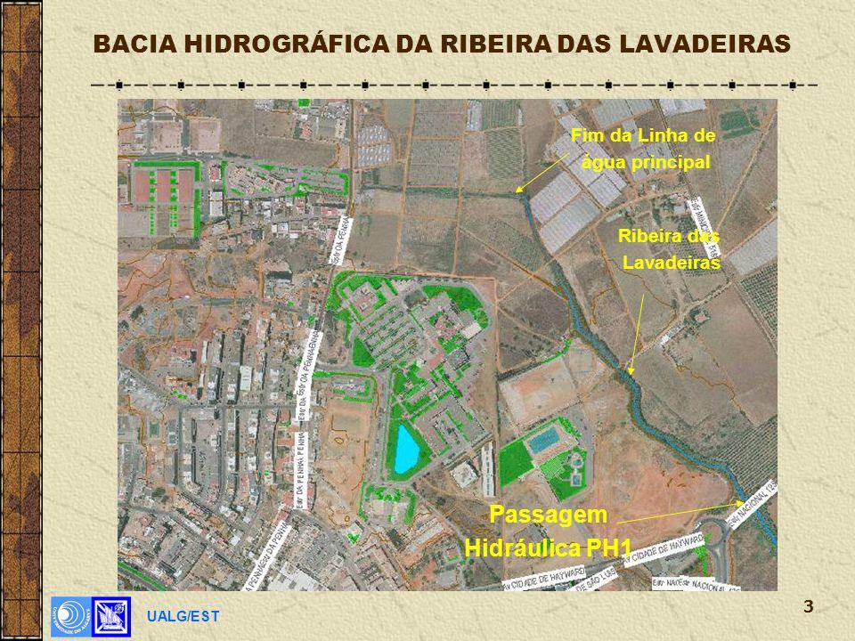UALG/EST 3 BACIA HIDROGRÁFICA DA RIBEIRA DAS LAVADEIRAS Ribeira das Lavadeiras Passagem Hidráulica PH1 Fim da Linha de água principal