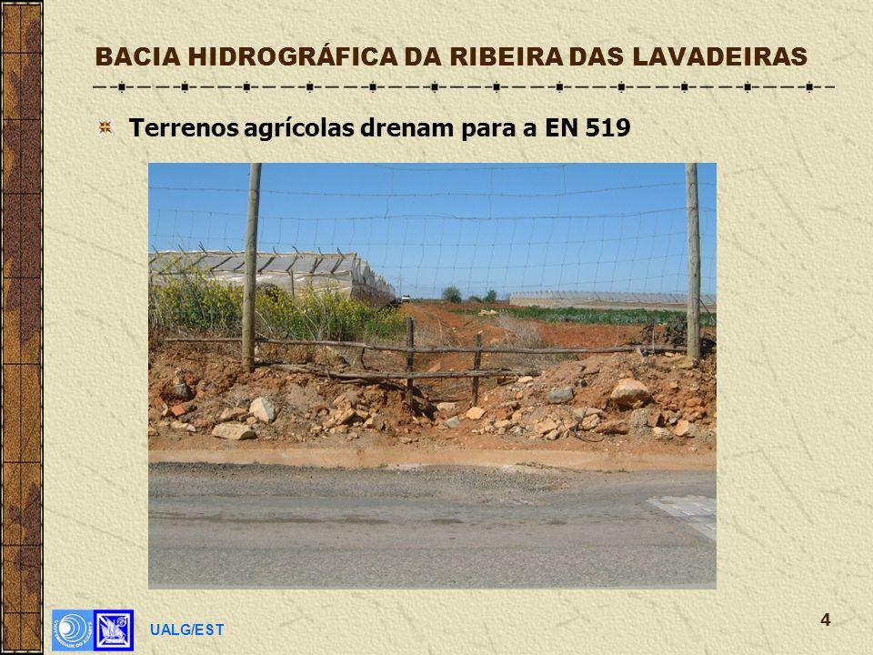 UALG/EST 4 BACIA HIDROGRÁFICA DA RIBEIRA DAS LAVADEIRAS Terrenos agrícolas drenam para a EN 519
