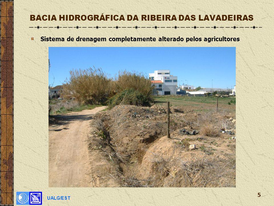 UALG/EST 5 BACIA HIDROGRÁFICA DA RIBEIRA DAS LAVADEIRAS Sistema de drenagem completamente alterado pelos agricultores