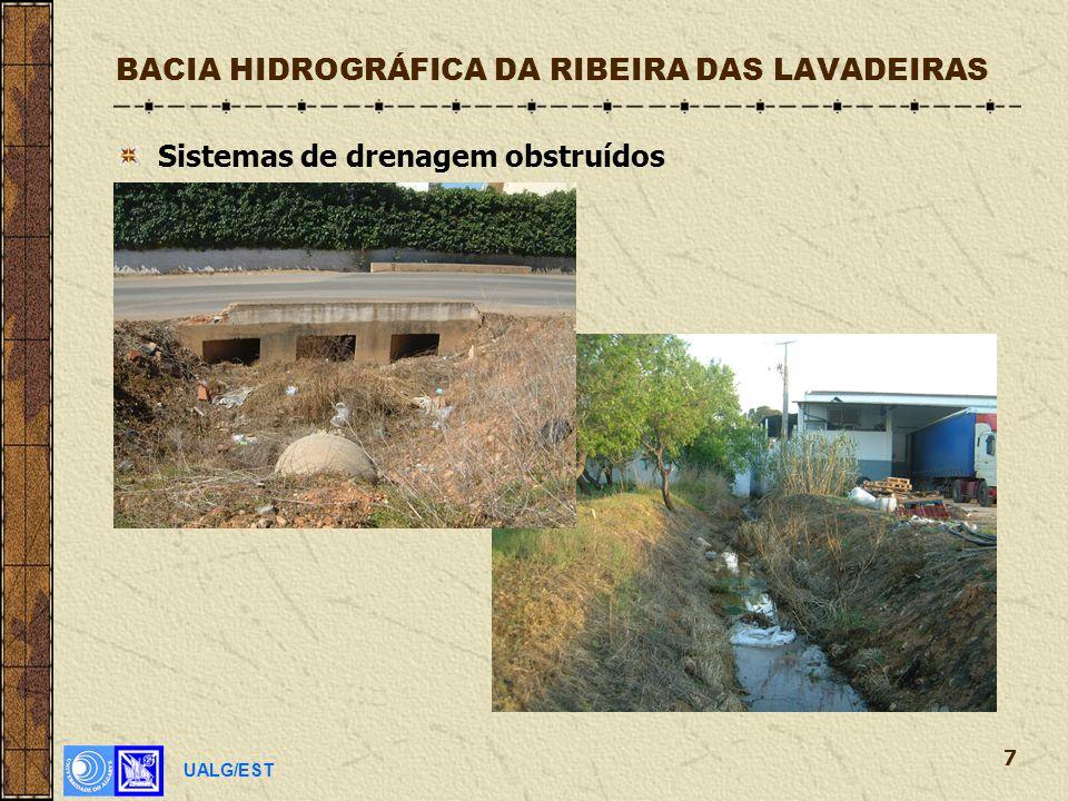 UALG/EST 7 BACIA HIDROGRÁFICA DA RIBEIRA DAS LAVADEIRAS Sistemas de drenagem obstruídos