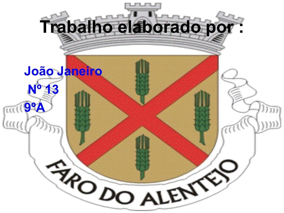 Faro do Alentejo Ordenação Heráldica Bandeira · Verde · Cordão e borlas de ouro e verde. · Haste e lança de ouro Brasão · Escudo de ouro, aspa de verm