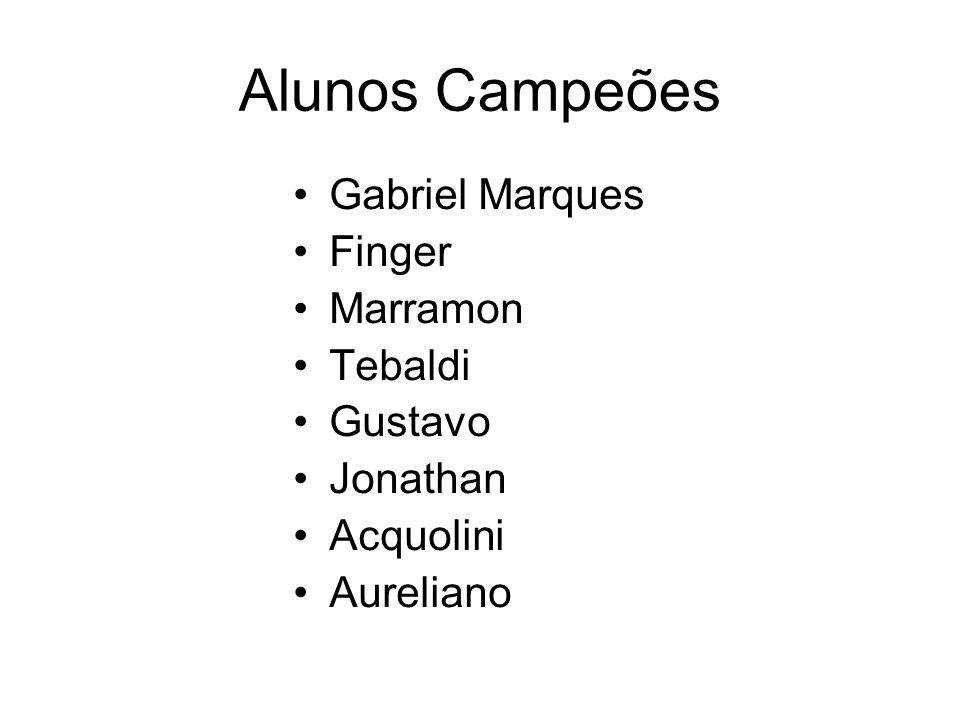 Alunos Campeões Gabriel Marques Finger Marramon Tebaldi Gustavo Jonathan Acquolini Aureliano