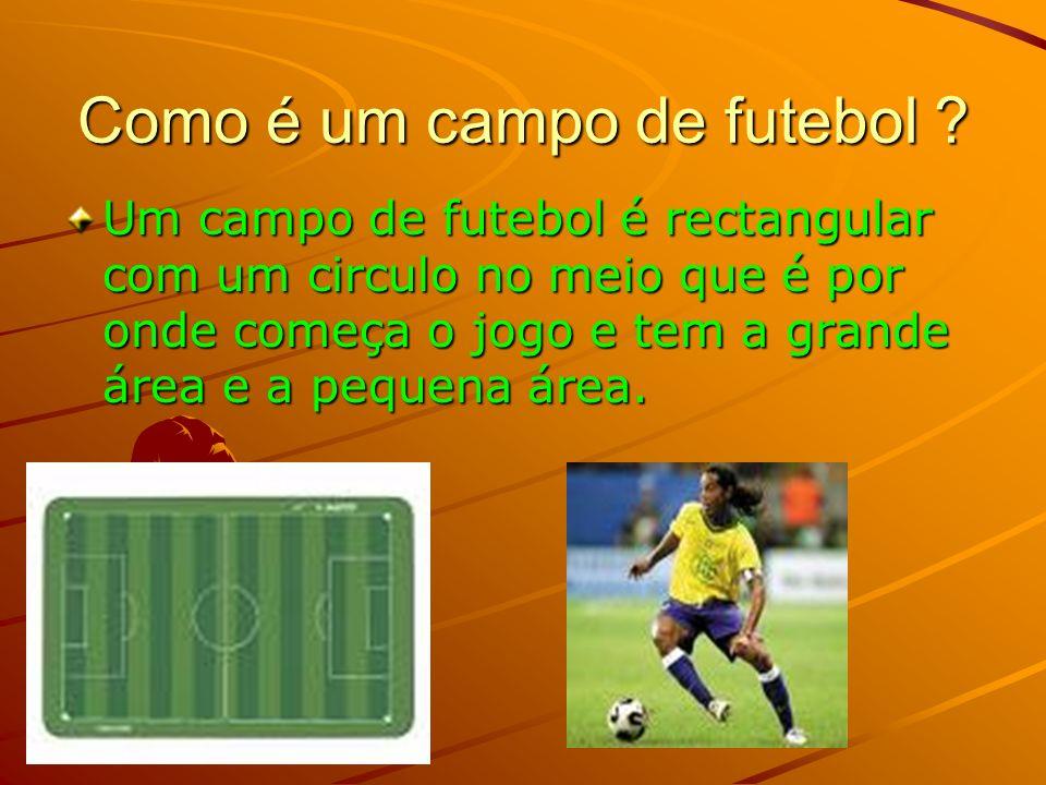 Como se joga futebol? O Futebol joga-se com os pés, com 11 jogadores de cada equipa. O objectivo do Futebol é marcar golo na baliza do adversário que