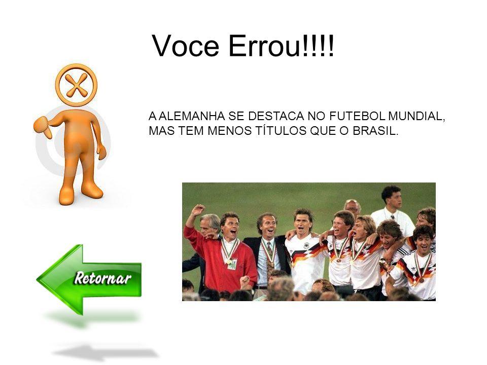Na Copa do Mundo o Brasil é Hexacampeão e a Alemanha Na copa do mundo, o Brasil é Pentacampeão. E a Alemanha? É Tricampeã É Tetracampeã É Pentacampeã