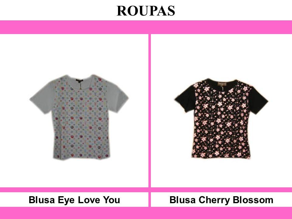 Blusa Eye Love You ROUPAS Blusa Cherry Blossom