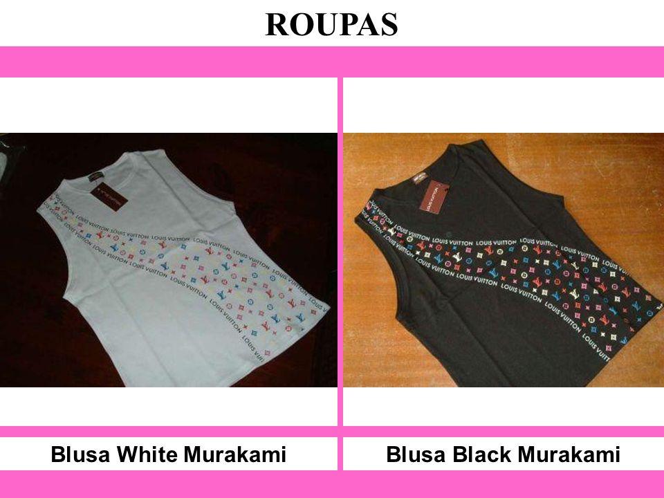 Blusa White Murakami ROUPAS Blusa Black Murakami