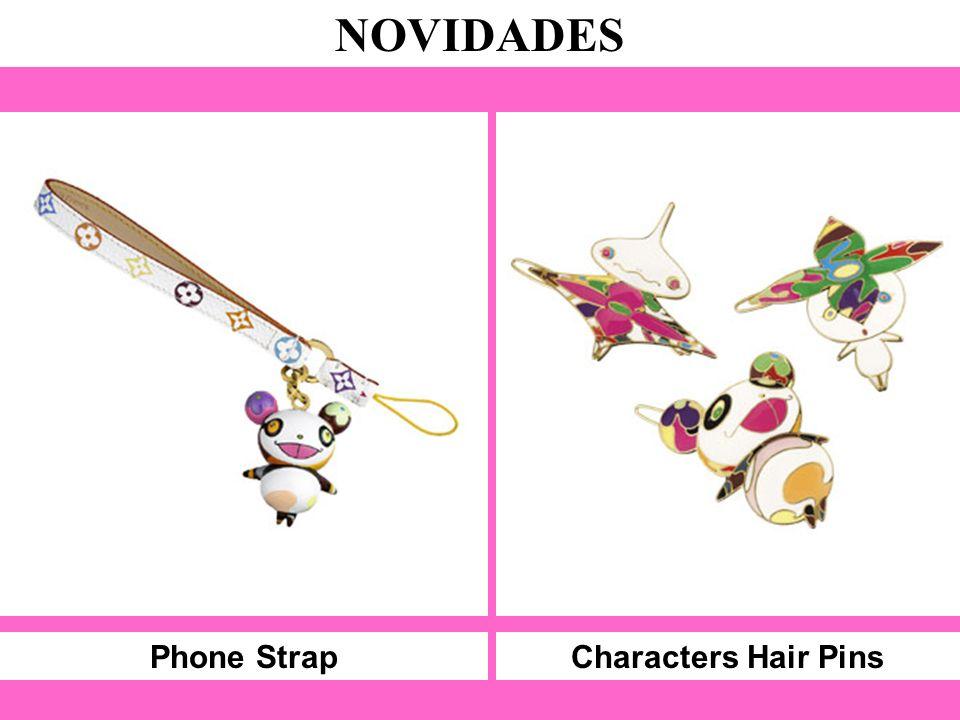 Phone Strap NOVIDADES Characters Hair Pins