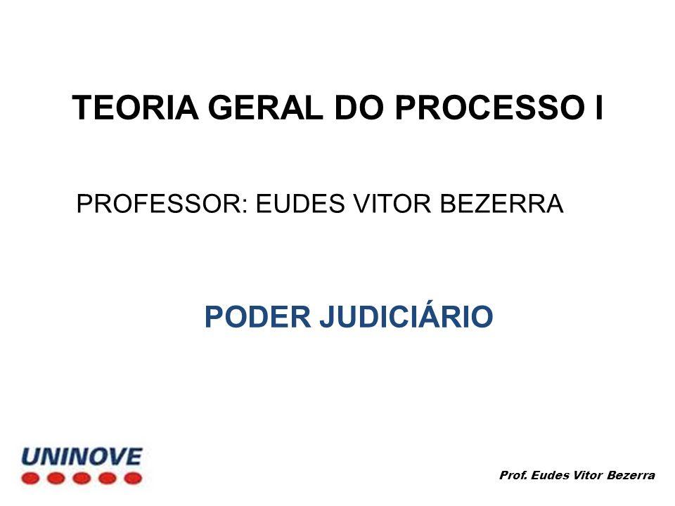 PROFESSOR: EUDES VITOR BEZERRA Prof. Eudes Vitor Bezerra PODER JUDICIÁRIO
