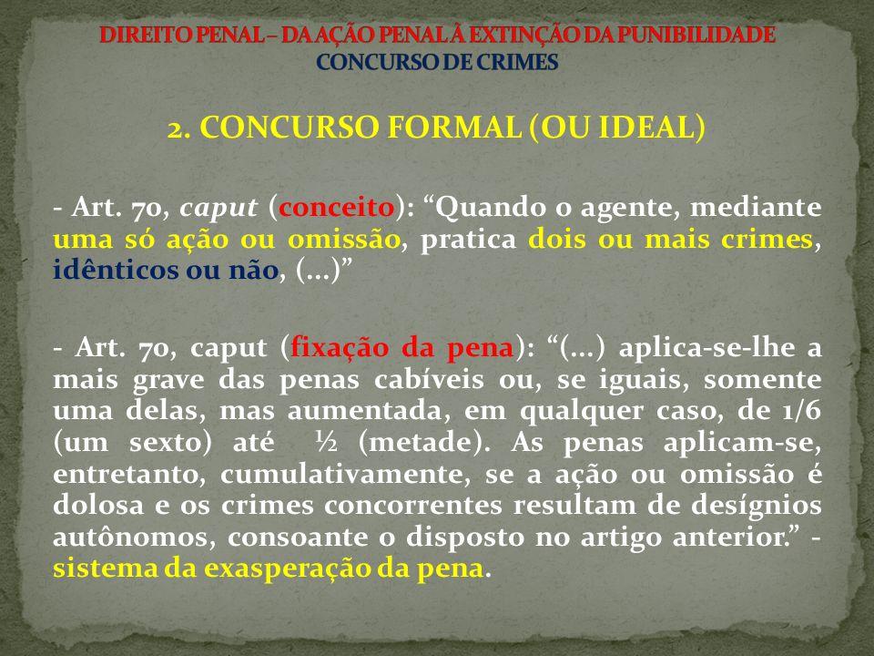 2.CONCURSO FORMAL (OU IDEAL) - Art.