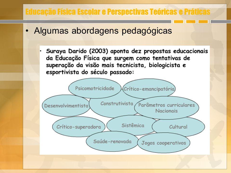 Educação Física Escolar e Perspectivas Teóricas e Práticas Algumas abordagens pedagógicas