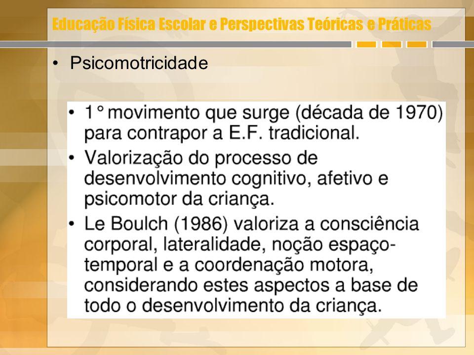 Educação Física Escolar e Perspectivas Teóricas e Práticas Psicomotricidade