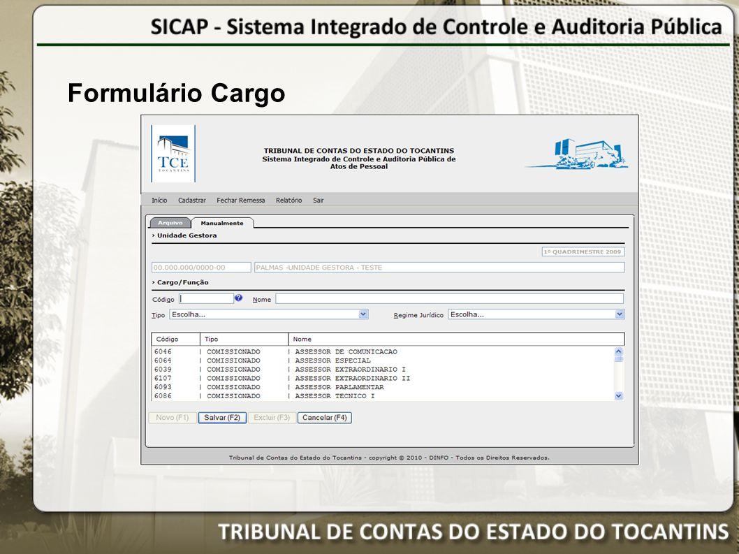Formulário Cargo