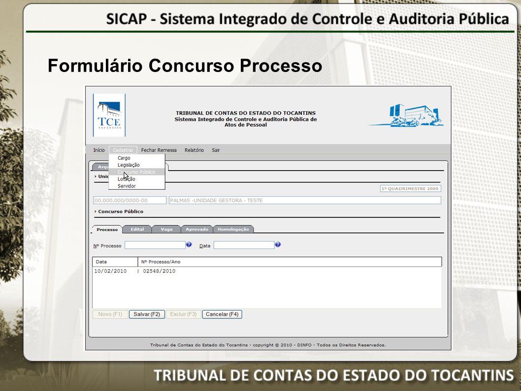 Formulário Concurso Processo