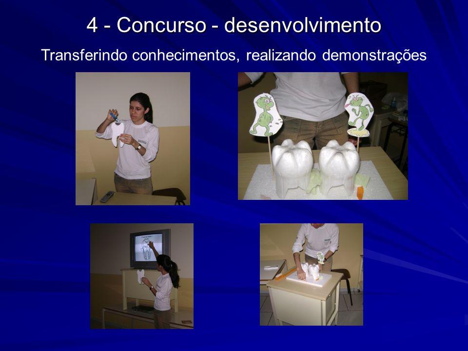 4 - Concurso - desenvolvimento Transferindo conhecimentos, realizando demonstrações