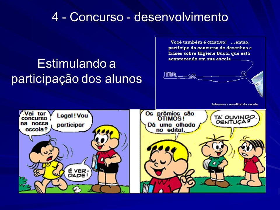 4 - Concurso - desenvolvimento Estimulando a participação dos alunos