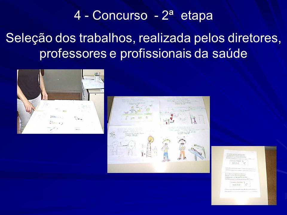 Seleção dos trabalhos, realizada pelos diretores, professores e profissionais da saúde 4 - Concurso - 2ª etapa